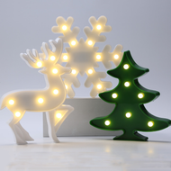 Christmas Decoration LED Luminaire Plastic Night Lights as Christmas Gift Ideas (full set)