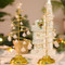 Crystal white Christmas LED Tree Table Lamp (silver)