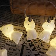 Nordic LED String Light 10PCS Plastic Unicorn Shape Decoration Shops Bedroom from Singapore best online lighting shop horizon light