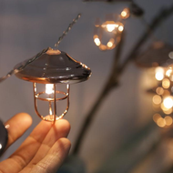 Nordic LED String Light 7PCS Metal Street Lamp Shape Party Festive Decoration from Singapore best online lighting shop horizon lights