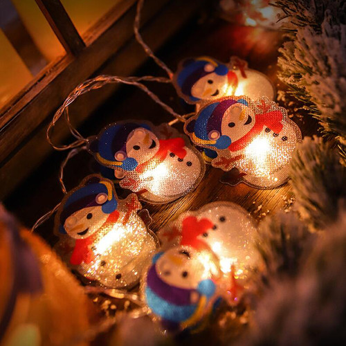 Nordic LED String Light 5PCS Plastic Snowman Shape Pendant Cute Home Shops Decor from Singapore best online lighting shop horizon lights