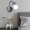 Modern LED Wall Light 2PCS Metal Abstract Doll Shape Cute Bedroom Corrider Decor from Singapore best online lighting shop horizon lights