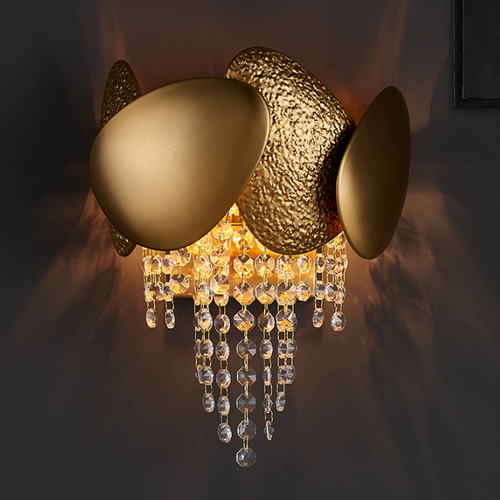 Post-modern LED Wall Light Stainless Steel Crystal Unique Living Room Hotel Corrider from Singapore best online lighting shop horizon lights