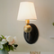 American Style LED Wall Light Metal Fabric Lampshade Warmth Lighting Bedroom from Singapore best online lighting shop horizon lights