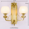 New Chinese Style LED Wall Light H65 Copper Glass Shade Classical Bedroom Corrider from Singapore best online lighting shop horizon lights