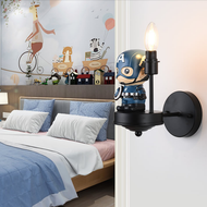 Modern LED Wall Light Metal Resin Captain America Shape Cute Children Bedroom Decor from Singapore best online lighting shop horizon lights