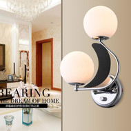 Modern LED Wall Light Glass Ball Lampshade Metal Corride Hallway Decor from Singapore best online lighting shop horizon lights