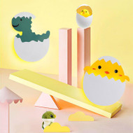 Modern LED Wall Light Metal Acrylic Cartoon Chick Dinosaur Shape Cute Children's Bedroom from Singapore best online lighting shop horizon lights