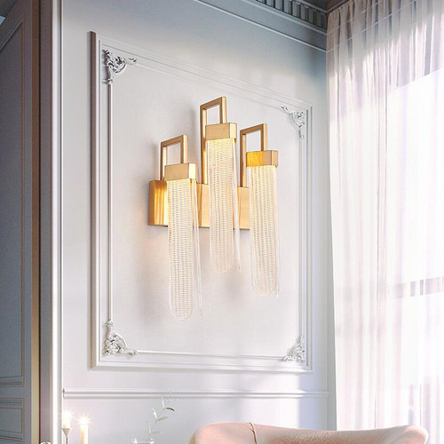 American style LED Wall Light Glass Stainless steel Unique Living Room Hallway from Singapore best online lighting shop horizon lights