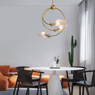 Nordic LED Pendant Light Glass Shade Metal Frame Elegant Dining Room Cafe Bar Decor from Singapore best online lighting shop horizon lights