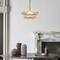 Post-modern LED Pendant Light Glass Wafers Copper Frame Bedroom Dining Room from Singapore best online lighting shop horizon lights