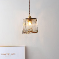 Nordic Style Pendant Light 2PCS Glass Crack Shade Copper Creative Bar Cafe Dining Room from Singapore best online lighting shop horizon lights