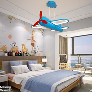 Modern LED Pendant Light Acrylic Metal Aircraft Shape Cute Children Bedroom Kindergarten from Singapore best online lighting shop horizon lights