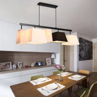 Modern LED Pendant Light Fabrci Shade Metal Simple Dining Room Restaurant Decor from Singapore best online lighting shop horizon lights