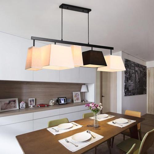 Modern LED Pendant Light Fabrci Shade Metal Simple Dining Room Restaurant Decor from Singapore best online lighting shop horizon lights