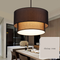 Modern LED Pendant Light Metal Round Shape Fabric Lampshade Dining Room from Singapore best online lighting shop horizon lights