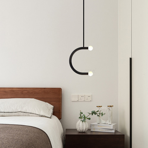 Modern LED Pendant Light Metal C Shape Simple Dining Room Restaurant Decor from Singapore best online lighting shop horizon lights