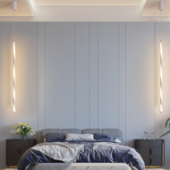 Modern LED Pendant Light Aluminum PMMA Pole Shape Minimalism Bedroom Lighting from Singapore best online lighting shop horizon lights