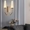 Post Modern Style LED Wall Light Glass Shade H65 Copper Living Room Corrider Decor from Singapore best online lighting shop horizon lights
