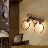 Retro Industrial Style LED Wall Light Metal Bicycle Shape Edison Bulb Dining Room Corride from Singapore best online lighting shop horizon lights