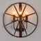 Retro Industrial Style LED Wall Light Metal Half Round Creative Dining Hall Decor from Singapore best online lighting shop horizon lights