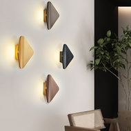 Modern LED Wall Light Aluminum Artistic Diamond Shape Living Room Corrider Decor from Singapore best online lighting shop horizon lights