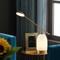 Modern LED Table Lamp Glass Holder Metal Rocker Shade Simple Living Room Bedside from Singapore best online lighting shop horizon lights