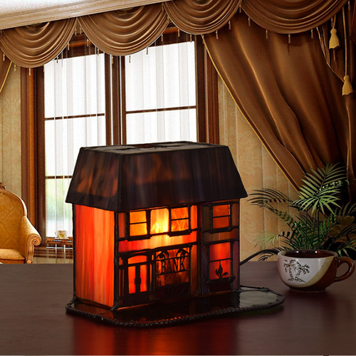 American Country Style LED Table Lamp Glass House Shape Creative Decor from Singapore best online lighting shop horizon lights