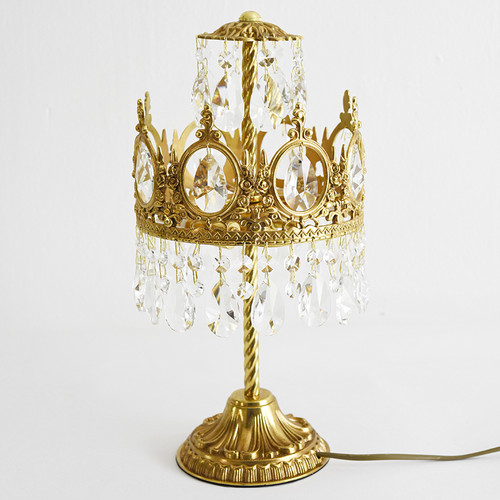 European Style LED Table Lamp Crystal Copper Charming Retro Home Decor from Singapore best online lighting shop horizon lights