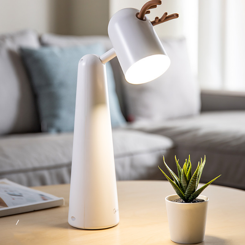 Modern LED Table Lamp ABS White Cute Shape Adjustable Angle Study Room from Singapore best online lighting shop horizon lights