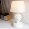Modern LED Table Lamp White Resin Sheepshead Cloth Shade Creative Bedroom from Singapore best online lighting shop horizon lights