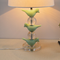 Modern LED Table Lamp Resin Birds Crystal Body Cloth Shade Living Room Bedroom from Singapore best online lighting shop horizon lights