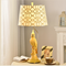 American Village Style LED Table Lamp Resin Parrot Cloth Shade Home Decor from Singapore best online lighting shop horizon lights