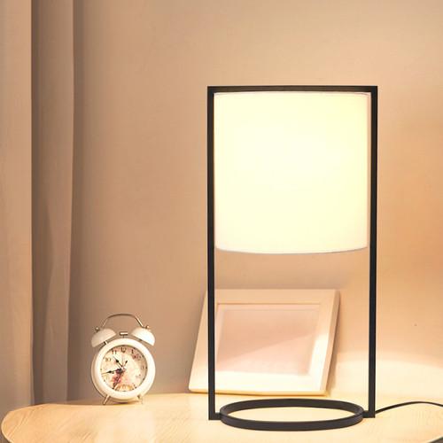 Modern LED Table Lamp Cloth Shade Metal Frame Minimalism Home Decor from Singapore best online lighting shop horizon lights