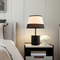 Modern LED Table Lamp 2PCS Cloth Lampshade Simple Bedroom Lighting from Singapore best online lighting shop horizon lights