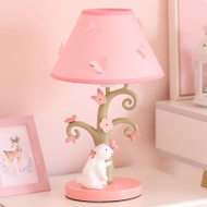 Modern LED Table Lamp Cloth Shade Resin Rabbit Tree Girls Bedroom  Princess Room from Singapore best online lighting shop horizon lights