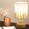 Modern LED Table Lamp 3PCS Cloth Lampshade Wood Base Bedside Study Decor from Singapore best online lighting shop horizon lights