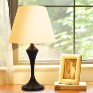 American LED Table Lamp 2PCS Cloth Shade Metal Minimalism Retro Study Bedside from Singapore best online lighting shop horizon lights