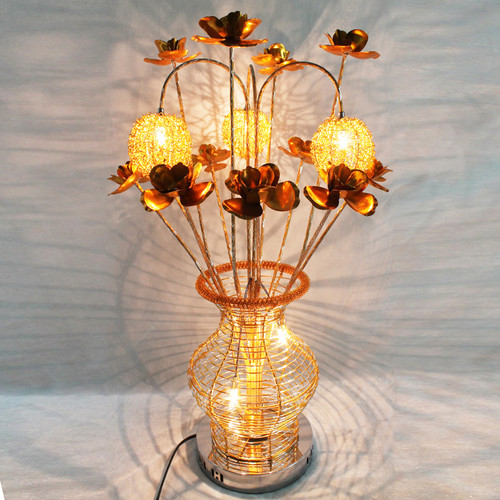 Modern LED Table Lamp Handmade Aluminum Creative Vase Shape Shops from Singapore best online lighting shop horizon lights