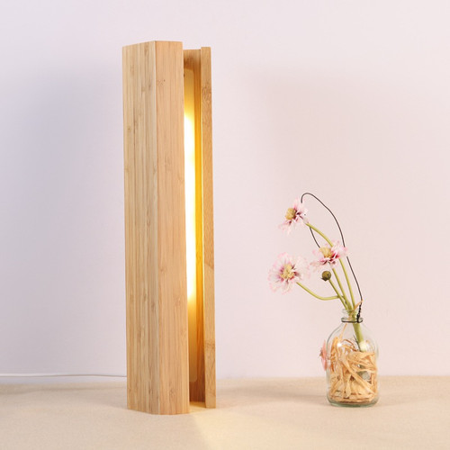 Modern LED Table Lamp 2PCS Bamboo Pentagon Shade Simple Bedroom Night Lamp  from Singapore best online lighting shop horizon lights