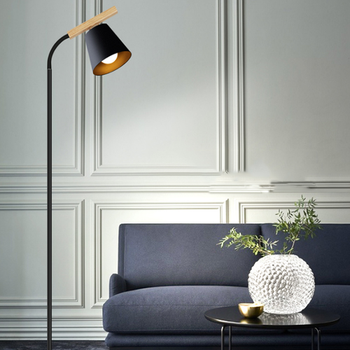 Modern LED Floor Lamp Metal Wood Adjustable Angle Creative Black/White Living Room from Singapore best online lighting shop horizon lights