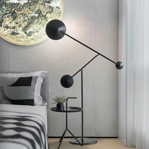 Modern LED Floor Lamp Metal Black Adjustable Artistic Bedroom Living Room Decor from Singapore best online lighting shop horizon lights