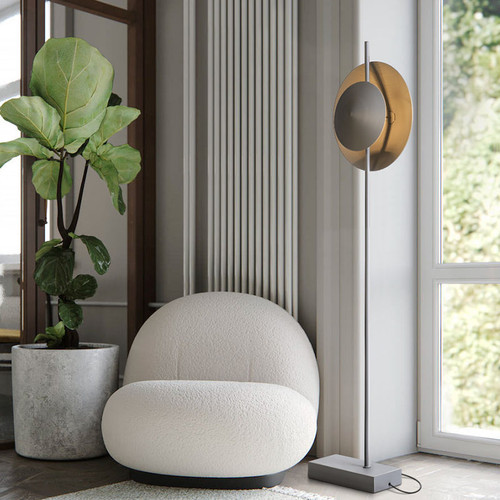 Modern LED Floor Lamp Aluminum Carbon Steel Creative  Artistic Living Room Decor from Singapore best online lighting shop horizon lights