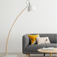 Modern LED Floor Lamp Wooden White/Black Adjustable Living Room Reading Light from Singapore best online lighting shop horizon lights