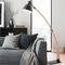 Modern LED Floor Lamp Wooden White/Black Adjustable Living Room Reading Light from Singapore best online lighting shop horizon lights