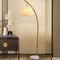 Modern LED Floor Lamp Bamboo Creative Cloth Lampshade Marble Base Living Room from Singapore best online lighting shop horizon lights