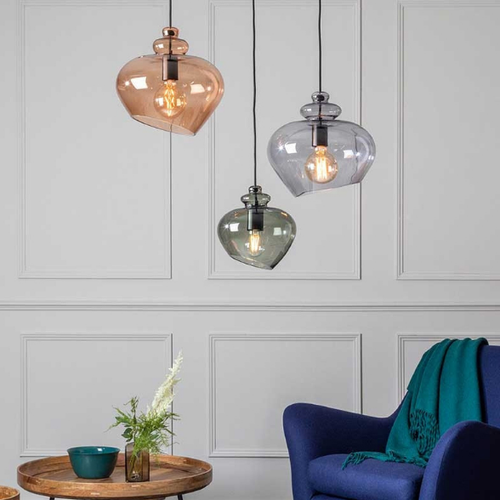 Nordic Style LED Pendant Light Glass Lampshade Unique Bedroom Dining Room from Singapore best online lighting shop horizon lights