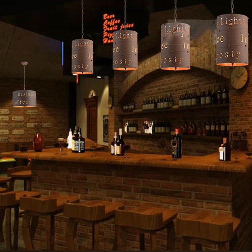 Industrial Style LED Pendant Light Metal Rust Simple Retro Dining Room Bar Restaurants from Singapore best online lighting shop horizon lights