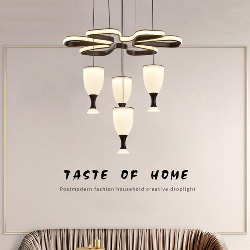 Modern LED Pendant Light Acrylic Wine Glass Lampshade Metal Dining Room Bar from Singapore best online lighting shop horizon lights