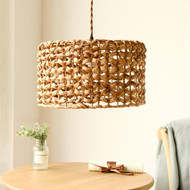 Modern LED Pendant Light Rattan Lampshade Metal Nature-friendly Dining Room Decor from Singapore best online lighting shop horizon lights
